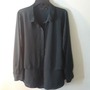 Apt 9 dark green blouse